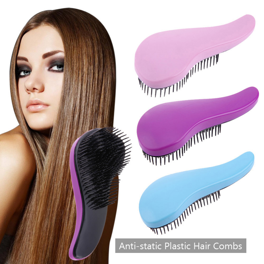 Hot Sale Anti-static Plastic Hair Comb Shower Hair Brush Detangler Salon Styling Tamer Exquite Cute Useful Tool Hot Hairbrush