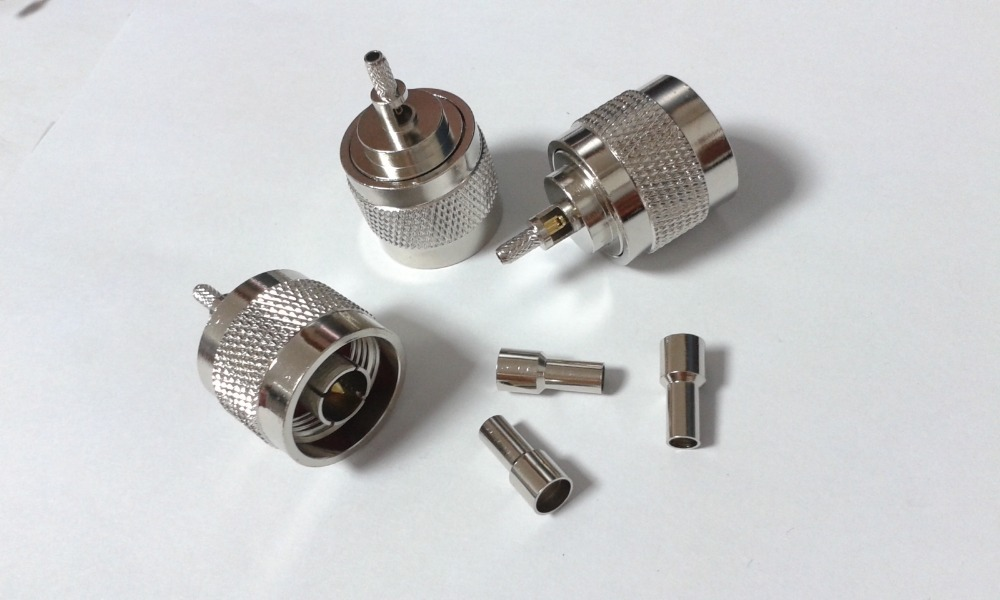 500pcs brass N Plug Male Crimp adapter Connector for RG316 RG174 coaxial Cable