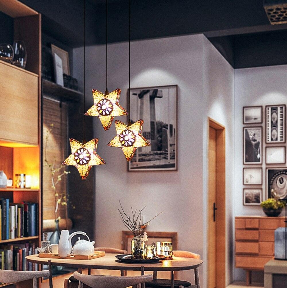 led e14 Arabian Iron Acrylic Stars LED Lamp LED Light.Pendant Lights.Pendant Lamp.Pendant light For Dinning Room Foyer Store arabian nights