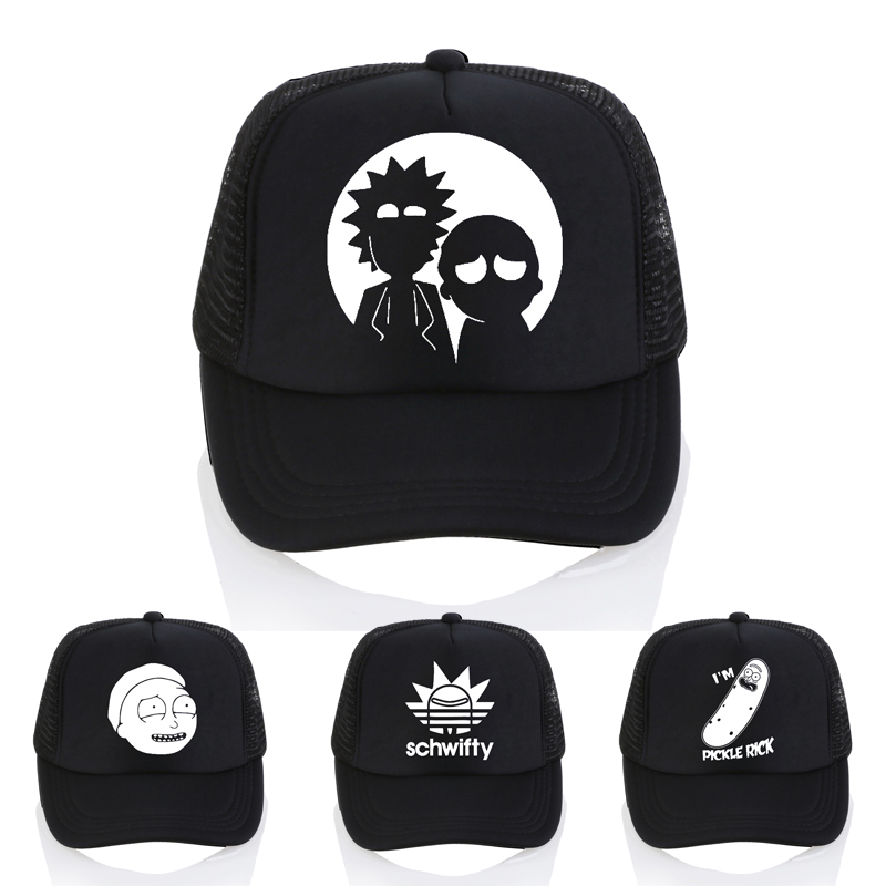The New US Animation Rick   Caps   Dad Hat Rick and Morty Hats Adjustable   Baseball     Cap   Fashion casual letter schwifty   cap