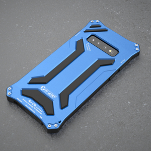 Image 3 - R JUST Armor Aluminum Metal Cover Case for Samsung Galaxy S10 Plus S10 5G s10 plus Gundam Waterproof shockproof Phone Cases