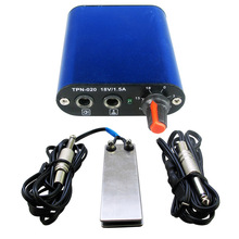 Hot Sale Tattoo Power Supply Set Kit Mini Blue Tattoo Power Supply Foot Pedal Switch Tattoo Silicone Clip Cord Tattoo Kit bjt tattoo foot switch tattoo power supply foot pedal stainless steel golden blue wire color