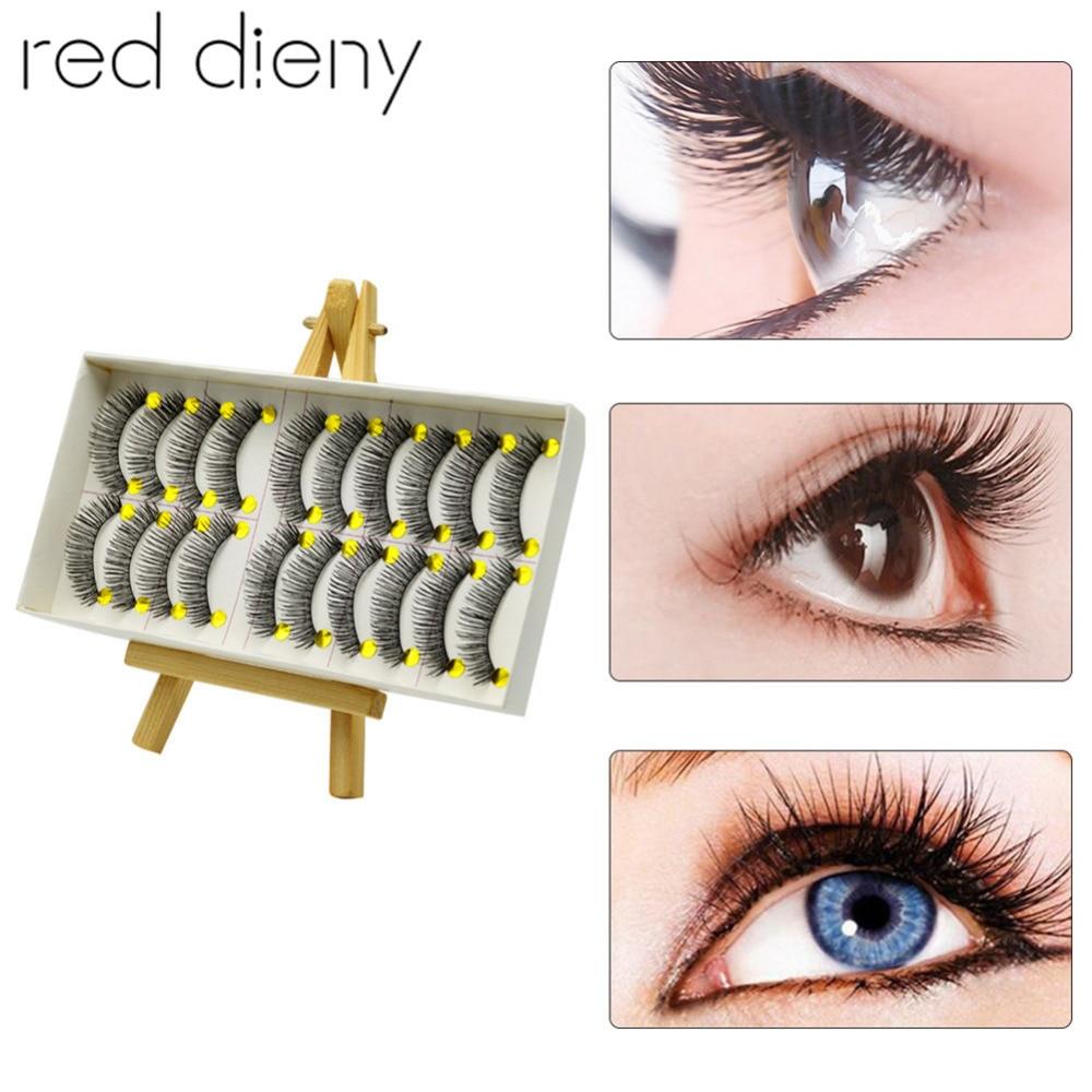 10 Pairs/set Professional Thick Long False Eyelashes Makeup Black Nautral Handmade Fake Eyelashes Extension Cosmetic Beauty Tool