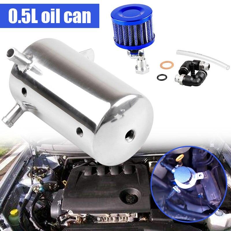 Ловить резервуар фильтр сапуна прочный масляный бак может гоночный двигатель маслоуловитель экологичный автомобиль
