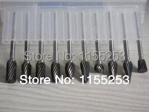 10 pieces. 3 * 6 mm. Tungsten Steel Carbide Rotary burrs Suit Dremel engraving, woodworking tools mata bor amplas
