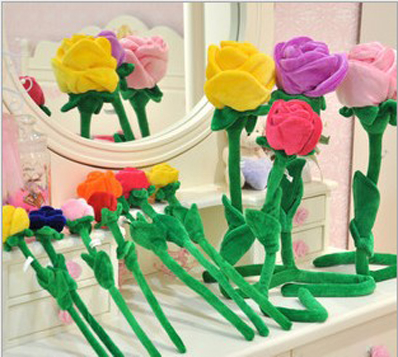 2005 32 baby plush toy 1pcs 32cm sunflower curtain buckle Cartoon plush flower curtain rose The