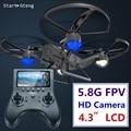 5.8g fpv drone quadcopter com câmera profissional hd controle remoto toys rc avião helicóptero quadrocopte dron wifi copte