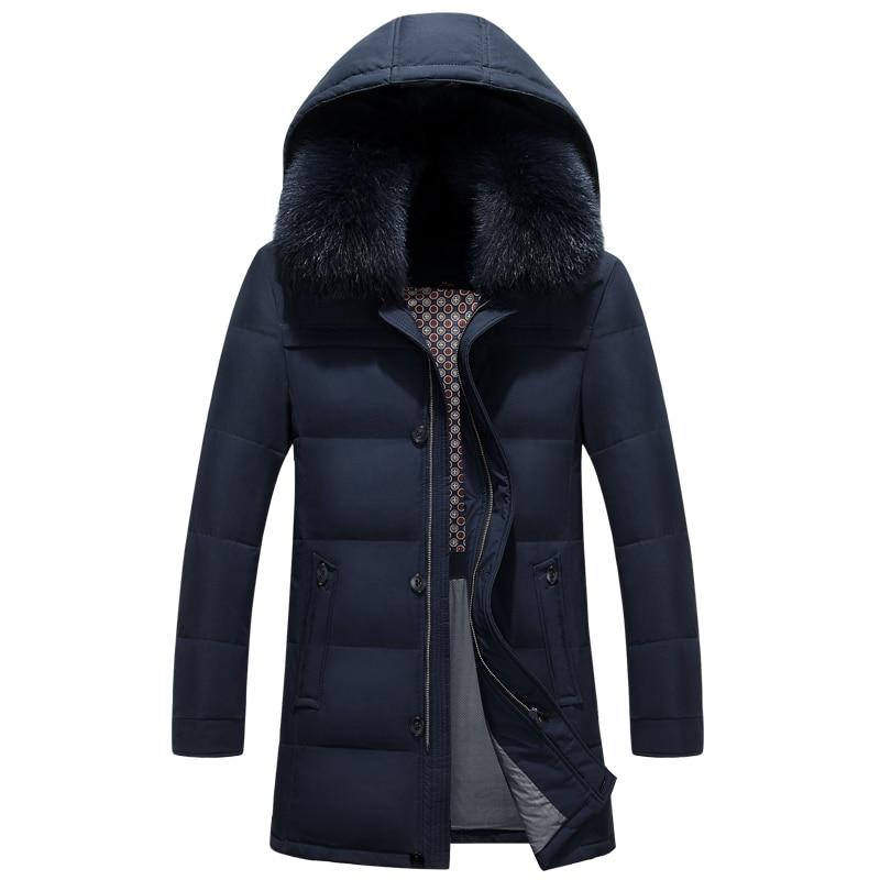 2017 Neue Marke Kleidung Jacken Dicke Warm Halten Männer Ist Unten Jacke Hohe Qualität Pelz Kragen Mit Kapuze Unten Jacke Winter Mantel Männlichen
