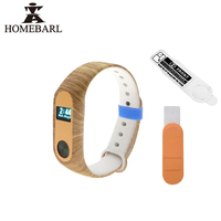 HD Film Protector For Xiaomi Mi Band 2 Wrist Strap Belt Silicone Colorful Camouflage Wristband Replace Mi Band 2 Smart Bracelet