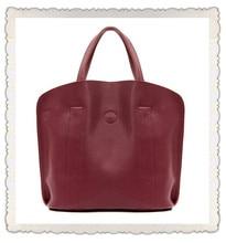 Guaranteed 100% Genuine Leather Handbags 2015 women Korean style zipper solid designer composite tote bags sac de marque femme49