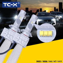 TC-X Luxeon ZES LED Headlight H11/H8/H9 9006/Hb4 9005/Hb3 H4 H7 Replacement High Beam Low Beam Fog Light