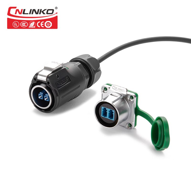 Zinc Alloy Material Fiber Optical Male Female Connector IP65/IP67 Waterproof Wiring Connector for Optical-equipment