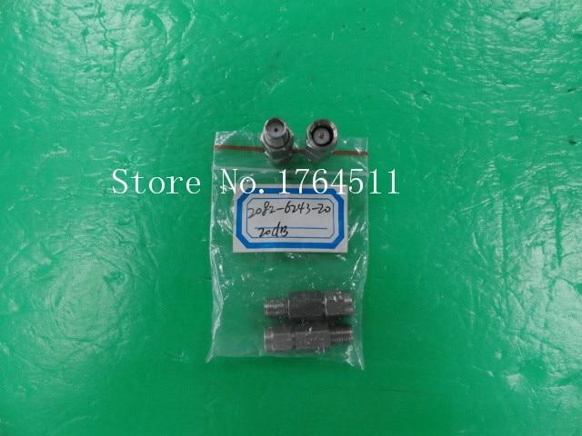[BELLA] M/A-COM 2082-6243-20 DC-18GHZ 20dB 2W SMA Coaxial Fixed Attenuator  --3PCS/LOT