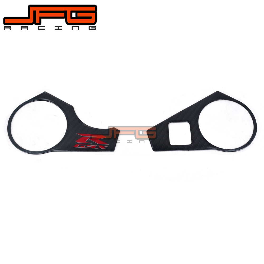 Motorcycle Carbon Fiber Triple Tree Clamp Decal <font><b>Stickers</b></font> For SUZUKI GSXR1000 GSX1000R <font><b>GSXR</b></font> <font><b>1000</b></font> 2009 2010 2011 <font><b>K9</b></font> image