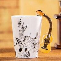 Độc đáo Món Quà Hoàn Hảo Acoustic Guitar Tách Nhạc Sáng Tạo Nhạc Sĩ cho Văn Phòng Nhà Bar Cafe