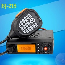 The New Arrival MINI BJ-218 mobile Radio VHF/UHF 136-174/400-470MHz Ham Radio fo
