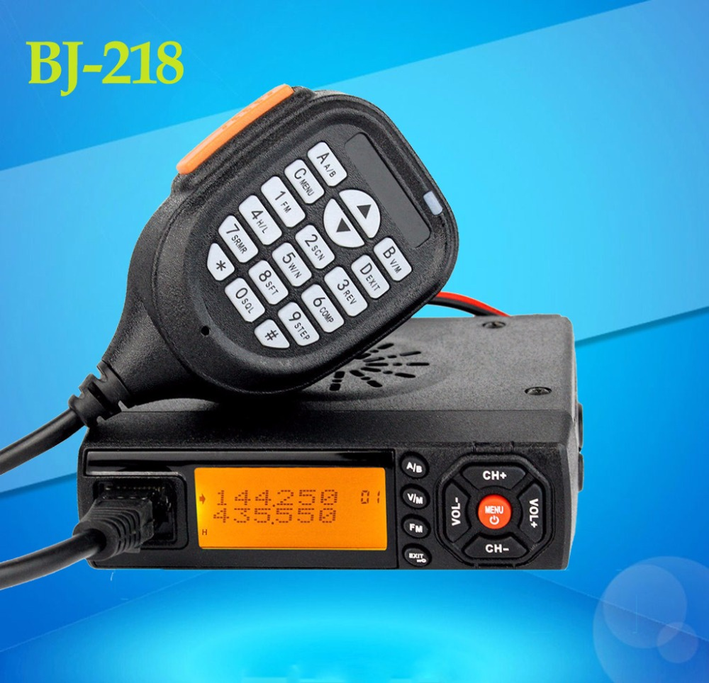 The New Arrival MINI BJ-218 mobile Radio VHF/UHF 136-174/400-470MHz Ham Radio for Car Bus Taxi Mobile Transceiver car radioThe New Arrival MINI BJ-218 mobile Radio VHF/UHF 136-174/400-470MHz Ham Radio for Car Bus Taxi Mobile Transceiver car radio