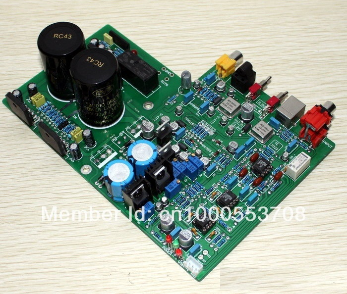DAC1955 AD1955+WM8805+PCM2706+AD827 LM3886TF Amplifier Optical Fiber Coxial USB Decode Amp