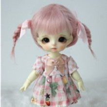 BJD accessories bjd wig pink color mohair material-lati yellow