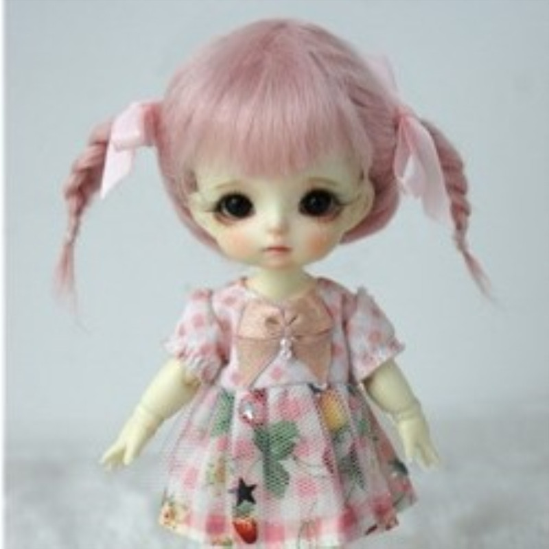 BJD Accessories Bjd Wig Pink Color Mohair Material -lati Yellow