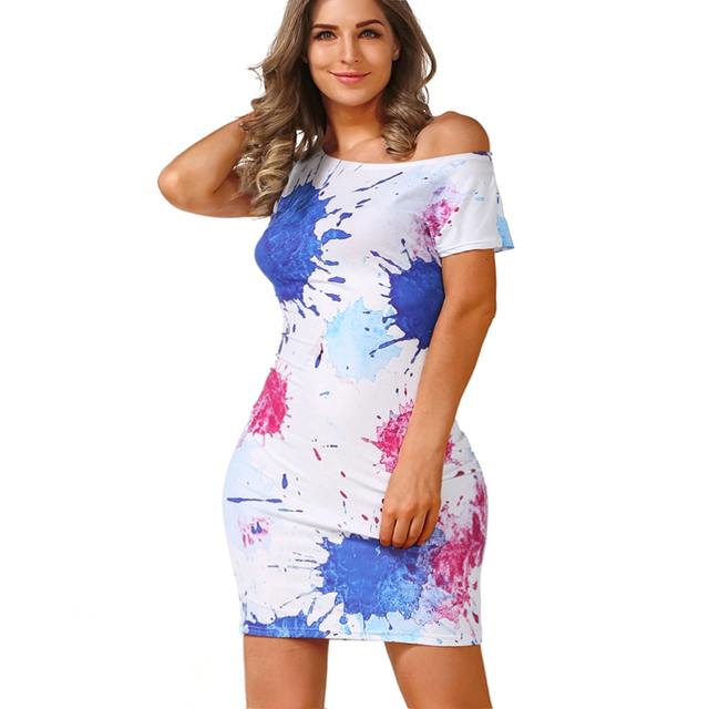 New 2016 Summer Dresses Fashion Women clothing Sexy Party Club Bodycon Sheath Casual Elegant Dress Print Dresses pencil dress