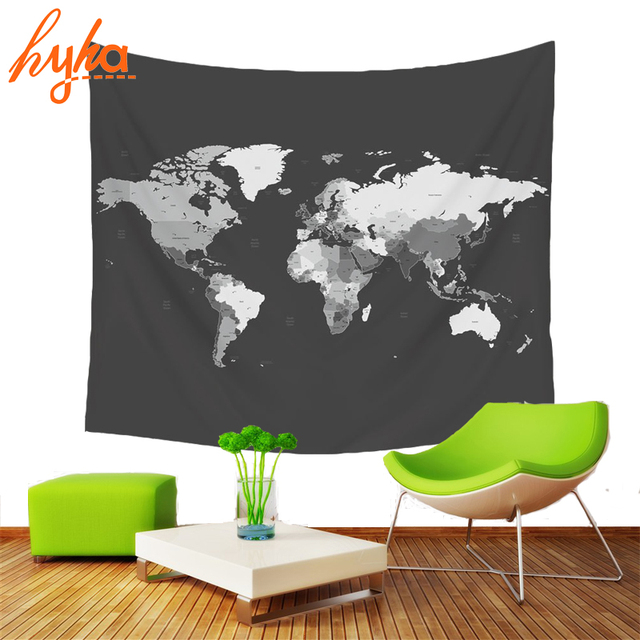 Hyha 130x150cm world map polyester tapestry map of usa colorful wall hyha 130x150cm world map polyester tapestry map of usa colorful wall decoration multi purpose bohemian gumiabroncs Gallery