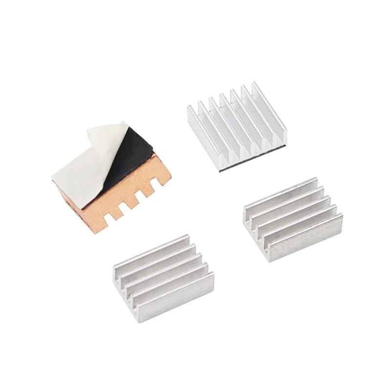 4pcs Heat Sink Kit 1 Cooper And 3 Aluminum Cooler For Khadas VIM Board For Orange Pi PC