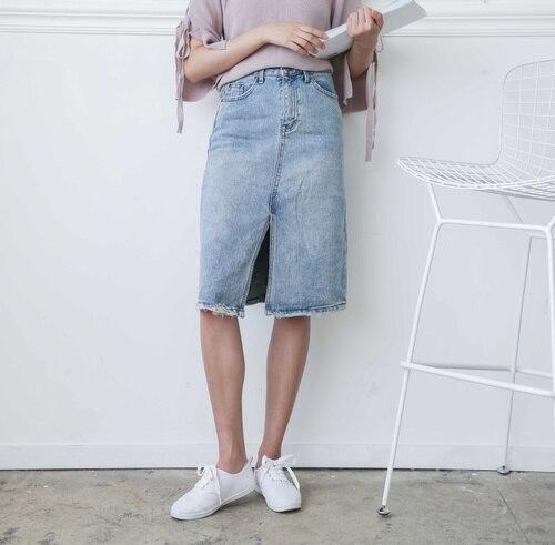 High Quality Denim Skirts Knee Length-Buy Cheap Denim Skirts Knee ...
