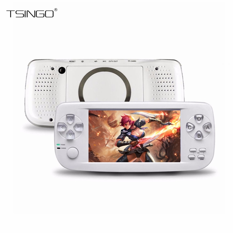 TSINGO PAP KIII 64Bit 4.3 Built-in 653 Classic Games Handheld Game Player Support AV Output K3 Multifunction Video Game Console ...