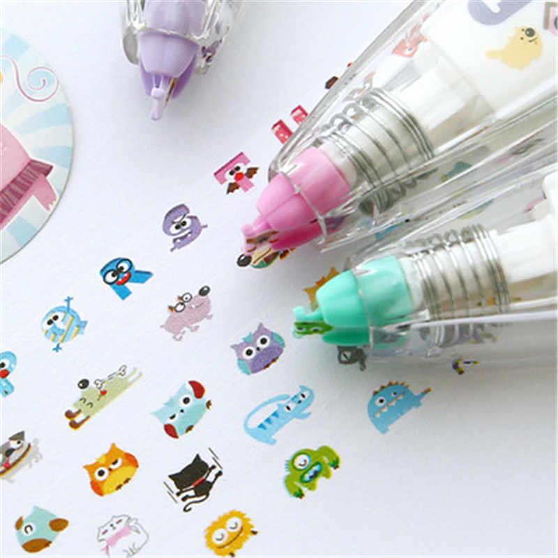 Bambino Giochi di disegno Bambino Nastro di Correzione Creativo Sticker Penna di Cute Cartoon Libro Decorativo Kid Novità Floreale Adesivos Etichetta del Nastro