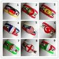 24 unids/lote Tiempo joya pulsera de la bandera Nacional, los Estados Unidos, brasil, Portugal, francia, alemania, italia, pulsera de Cuero de inglaterra
