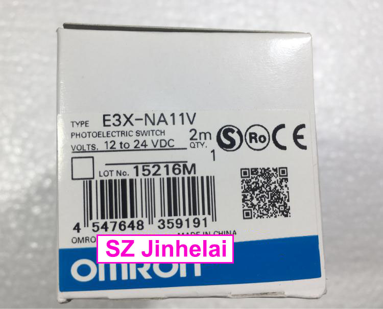 100% New and original  E3X-NA11F, E3X-NA11V   OMRON   Photoelectric Switch   2M  12-24VDC new and original e3t st21 omron photoelectric switch 2m 12 24vdc photoelectric sensor