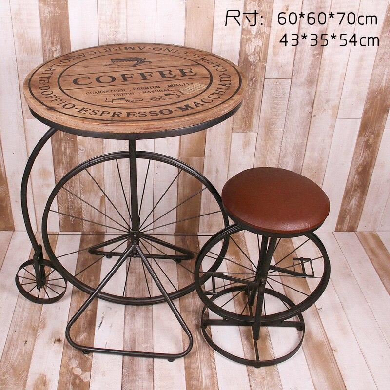 Американский Village Cafe ретро личность, чтобы сделать старый кованого железа столы и стулья люкс мебель сочетание чая магазин креатинина