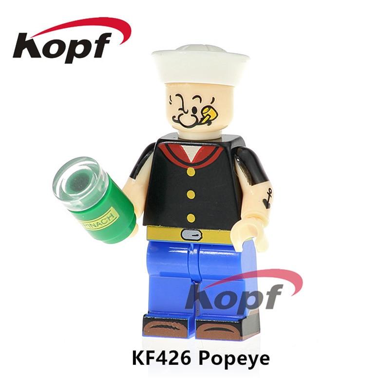 50Pcs KF426 Super Heroes Building Blocks Popeye Bob Ross Freddie Mercry Scarface Grunge Icon Bricks Gift Dolls For Children