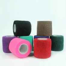 חד פעמי עצמי דבק אלסטי תחבושת עבור ידית עם צינור הידוק של קעקוע אביזרי אקראי צבע x1
