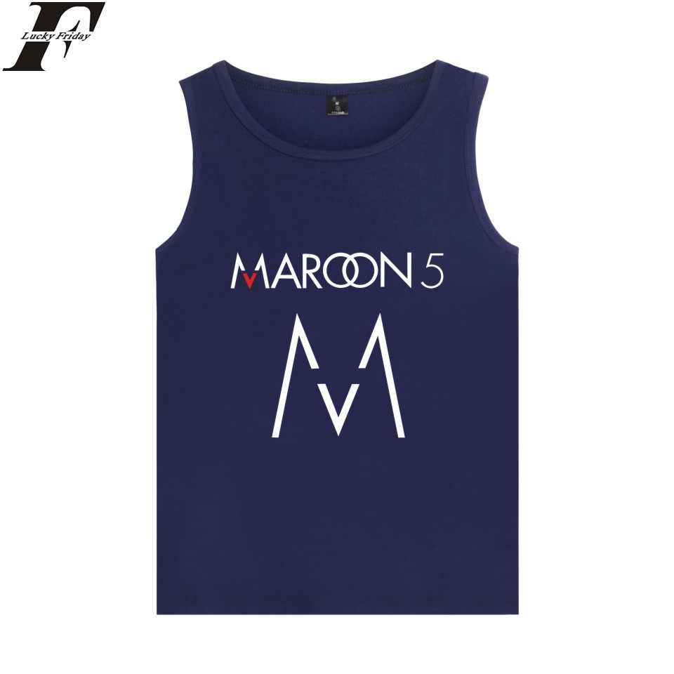 LUCKYFRIDAYF Maroon Five Vest Rock Band Hip Pop Summer Sleeveless Shirt Fashion font b Tank b