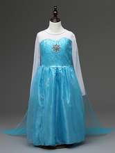 halloween costumes for little girls long sleeve children's princess elsa dress cosplay with long cape
