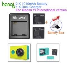 Kingma batería xiaomi yi 2 unids 1010 mah batería xiaoyi, xiao batería cargador doble para cámara de acción xiaomi yi yi yi accesorios
