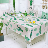 Table Cloth European leaves tablecloth Party Wedding Decoration Raised leaves cotton linen Table Runner Cloth Cover