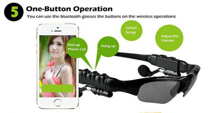 Sport Stereo Wireless Bluetooth Headset 3 colorful Sun lens Earphones Sunglasses mp3 Riding Glasses for lenovo sony xaomi xiomi