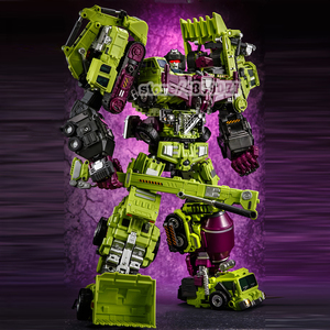 Image 2 - JINBAO Deformation New Devastator Toys Transformation GT Robot Trucks Car Oversize Excavator Crane Model Action Figure Toys