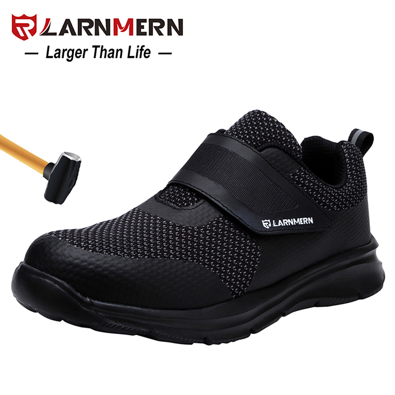 LARNMERN Safety Shoes Steel Toe Construction Work