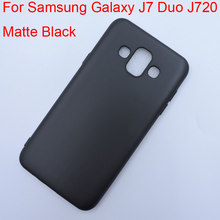 Matte Black Color Protective Cover for Samsung Galaxy J7 Duo J720 Matt Case Drop Resistance Shell GalaxyJ7Duo Sleeve Back Guard(China)