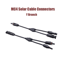 PPO Tinned copper 1 Pair MC4 Connectors Y Branch 1 to 2 or 4 Parallel Adapter Cable Wire Plug Tool Kit for Solar Panel Systems