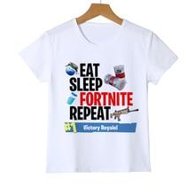 Fortnite T 셔츠 Kid Funny T 셔츠 게임 Fortnite Printing Boy / Girl / Baby 여름 의류 반소매 스타일 T 셔츠상의 Tee Y9-7