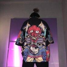 Кимоно для мужчин, традиционное японское кимоно, мужское кимоно, кардиган, harajuku, уличная одежда, костюм самурая, юката, мужской хаори, obi FF001A