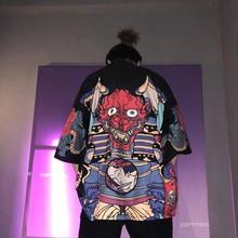 Kimono japonais pour homme, Cardigan, veste, Yukata, Harajuku, Streetwear, vêtements samouraï, Yukata Haori Obi