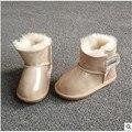 Botas de neve as novas crianças sapatos de pele de Carneiro do bebê sapatos da criança colorido brilhante