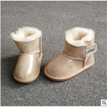 The new children's snow boots Sheepskin baby shoes  toddler shoes colorful  bright