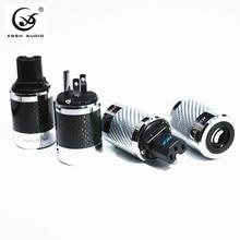 Guangzhou YIVO FI-50 & FI50M углеродное волокно родиевое покрытие ручная работа AC мощность Электрический мужской женский разъем IEC EU US Plug